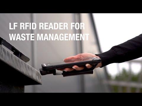 Handheld NAUTIZ X6: LF RFID reader for waste management
