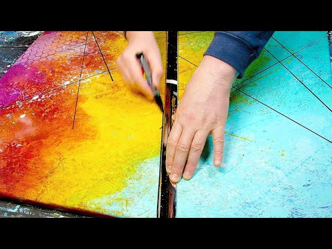 BRIGHT COLORS / Coloured Shading and Markers / ABSTRACT PAINTING | Aduro