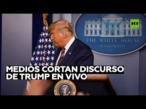 Varias cadenas de televisión interrumpen un discurso en vivo de Trump