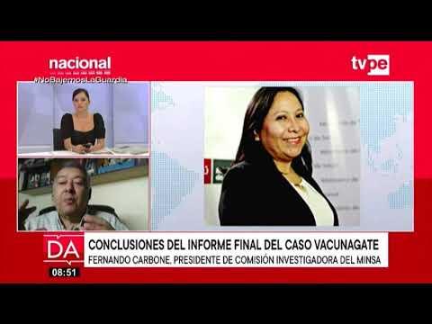 Entrevista a Fernando Carbone, presidente de la Comisión Investigadora del Minsa