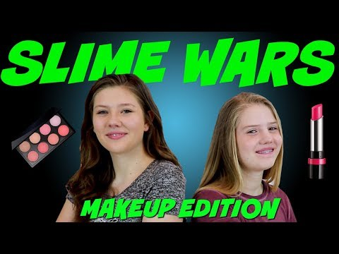 connectYoutube - SLIME WARS MAKEUP CHALLENGE || SLIME CHALLENGE || Taylor and Vanessa