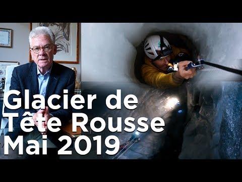 Poche d'eau du Glacier de Tête Rousse Saint-Gervais Mont Blanc Etat des lieux mai 2019