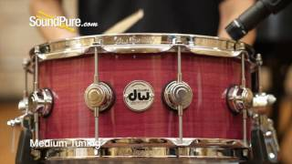 DW 6x14 Collectors Series Purpleheart Snare Drum Quick n' Dirty