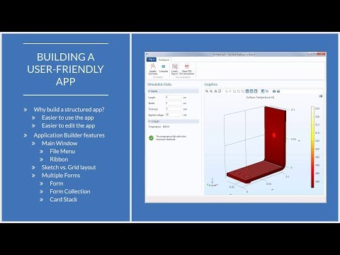 How to Set Up an Organized Simulation App in COMSOL Multiphysics®