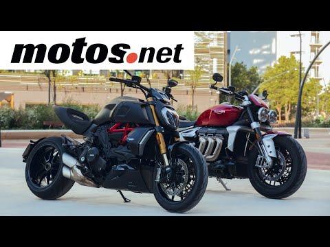 Comparativo Ducati Diavel 1260 S vs Triumph Rocket3 R | Prueba / Test / Preview en español