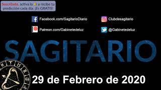 Horóscopo Diario - Sagitario - 29 de Febrero de 2020
