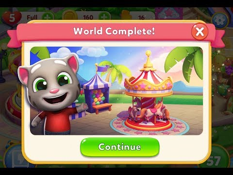TALKING TOM FUN FAIR - Gameplay Walkthrough Part 2 iOS / Android - World 1 and 2 Completed