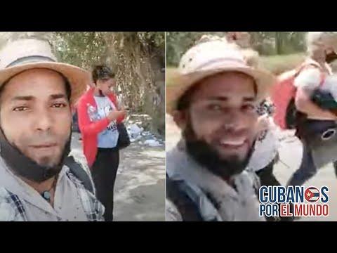 Cubanos muestran el momento de alegría al llegar a EEUU después de cruzar el Río Bravo