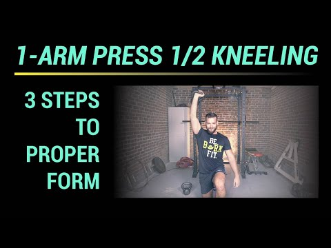 1-Arm Press 1/2 Kneeling