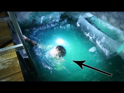 DIVING UNDER THE ICE!! Worst Challenge Ever!