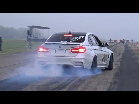 CRAZY!! BMW M3 F80 LA PERFORMANCE doing BURNOUTS!