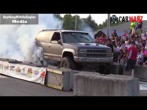 Chevy Mud Truck Makes Smoke Show At Rod Benders Burnout Competition