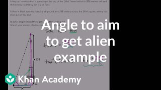 Angle to aim to get alien