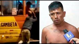 Capturan a uno de los sujetos que asaltó a pasajeros de cúster en San Martín de Porres