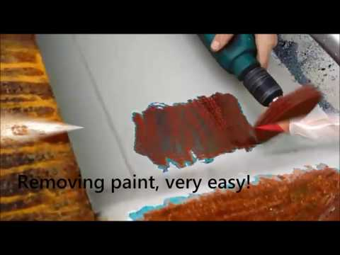 Tercoo the drill powered paint and rust remover