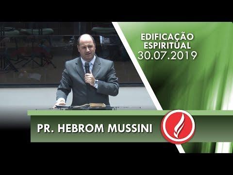 Pr. Hebrom Mussini   Vivendo uma vida com sabedoria   Tiago 1.1-18   30 07 2019