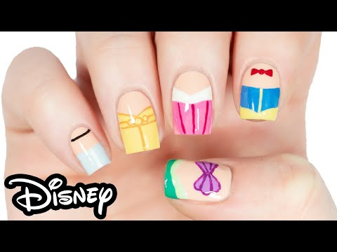 5 Classic Disney Princess Nail Art Tutorial