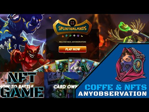 This is Splinterlands! Play to earn NFT game | Coffee & NFTs