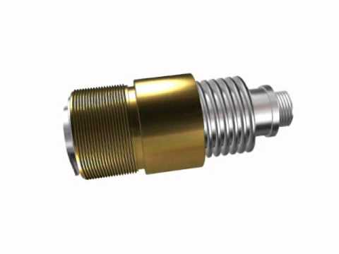 Abssac's power lead screw and bronze nut animation