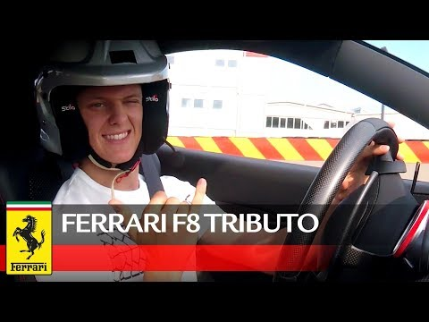 Mick Schumacher test drives the F8 Tributo