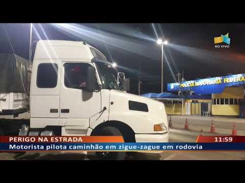 DF ALERTA - - Motorista pilota caminhão em zigue-zague em rodovia