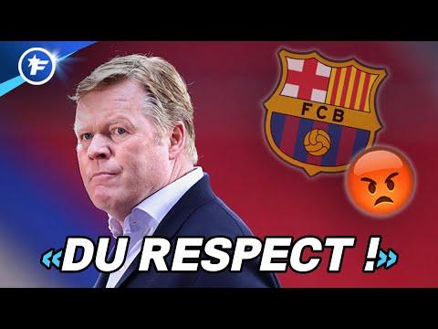 Le coup de gueule de Ronald Koeman secoue le FC Barcelone   Revue de presse