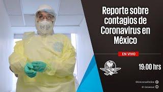 Reporte sobre coronavirus en México por parte de la Secretaría de Salud