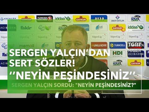 """Rizespor Beşiktaş maçı sonrası Sergen Yalçın'dan sert sözler! """"Neyin peşindesiniz?"""""""