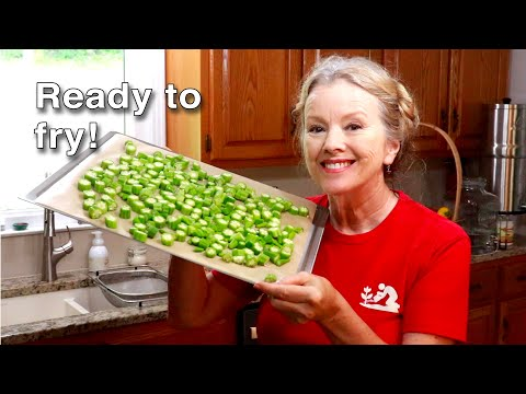 BEST WAY TO FREEZE OKRA for frying later!