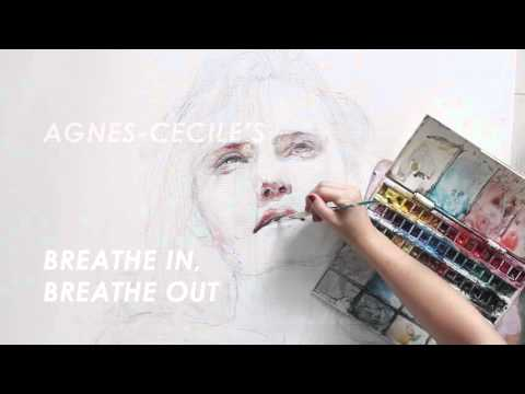 Breathe in, breathe out – sped up painting (collaboration with Society6)