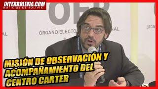 ????  PRIMERA INTERVENCIÓN DEL INFORME DEL FIN DE COMPUTO Centro Carter  - ELECCIONES BOLIVIA 2020