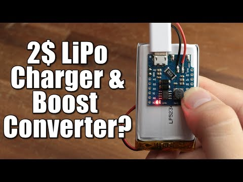 2$ LiPo Charger & Boost Converter? || TP5410 Test