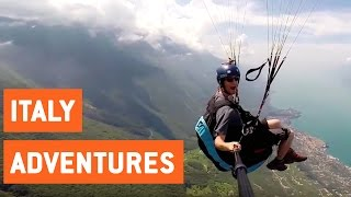 BASE Jumpers and Paragliders Soar Through Italy
