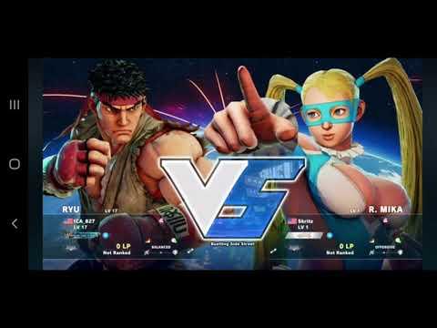 [Sample Clip] Feb. 16th, 2016 (SFV Launch Date) My Very 1st Ranked Match: Ryu VS Rainbow Mika