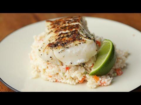 Cod With Confetti Coconut Rice ? Tasty