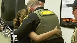 Niña de 11 años viaja por EE.UU. para abrazar policías   Telemundo
