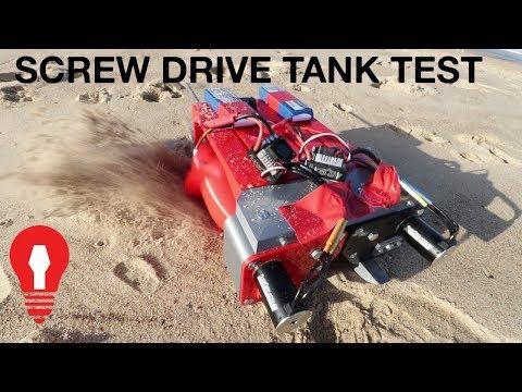 SCREW DRIVE RC TANK TEST