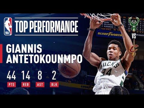Giannis Antetokounmpo Puts Up 44/14/8 In Bucks' Win Over Cavs | December 14, 2018