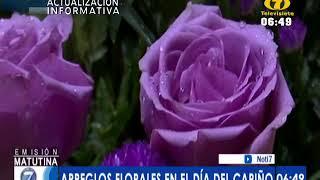 Vendedores del Mercado de Flores ofrecen variedad de arreglos para este Día del Cariño