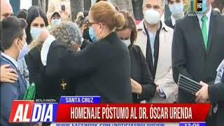 Rindieron homenaje póstumo al Dr. Oscar Urenda