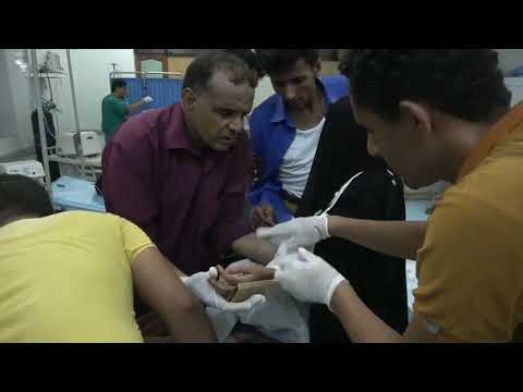 إصابة إمراتان وطفلة وقت الأفطار بشظايا قذائف مليشيات الحوثي في حيس الحديدة