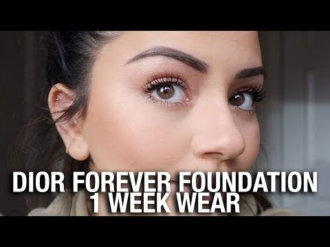 TESTING THE NEW DIOR FOREVER FOUNDATION FOR 1 WEEK!