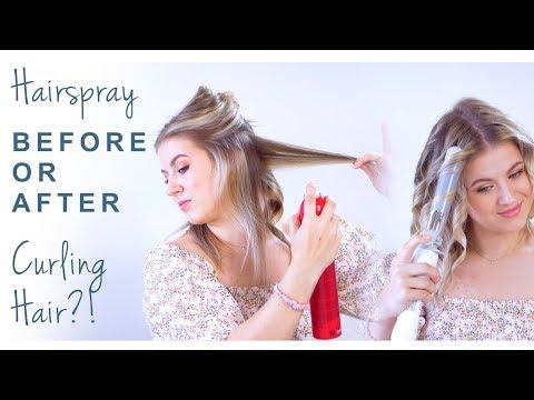 Hairspray BEFORE or AFTER Curling Hair?!