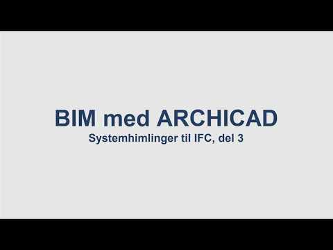 BIM med ArchiCAD: Systemhimlinger, del 3