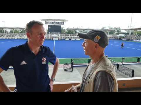 Bobby Cruthley GB mens hockey coach comments post NZ friendly match.