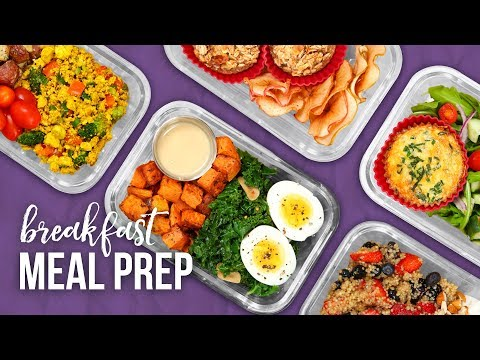 5 Healthy BREAKFAST Meal Prep Ideas   New Year 2018