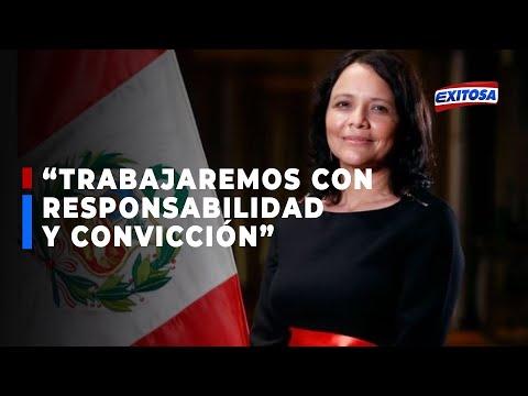 Ministra Durand: Tengo la palabra del presidente Castillo para trabajar por la igualdad y justicia