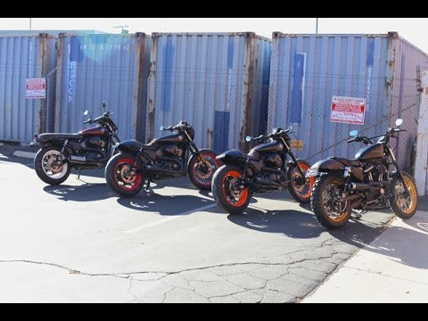 4 Builds at once - 2 Harley 750 Cafe Racers, 1Harley 750 Brat, and 1 Harley Sportster Scrambler!