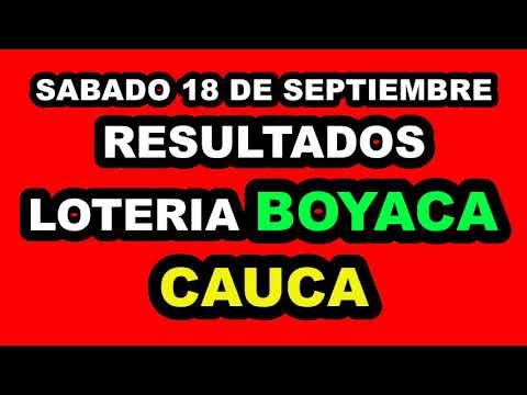 Resultados Lotería de BOYACÁ Y CAUCA del Sábado 18 de Septiembre de 2021 | PREMIO MAYOR
