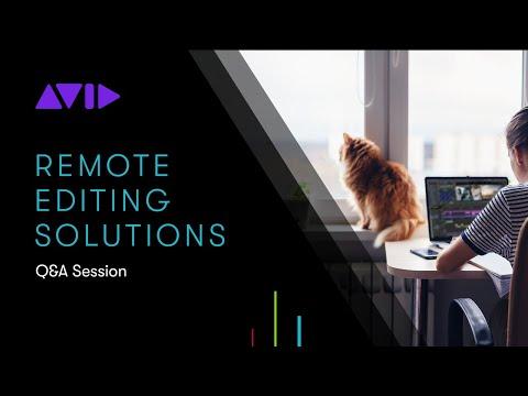 LIVE WEBINAR — Avid's Remote Editing Solutions Q&A Session